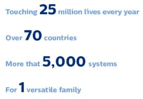 touching millions of lives in over seventy countries